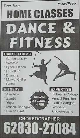 DANCE and FITNESS classes in your HOME