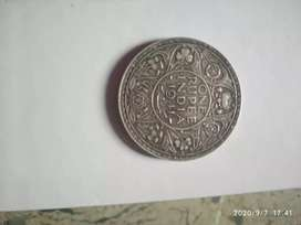 One rupee George 6 king emperor coin 1941