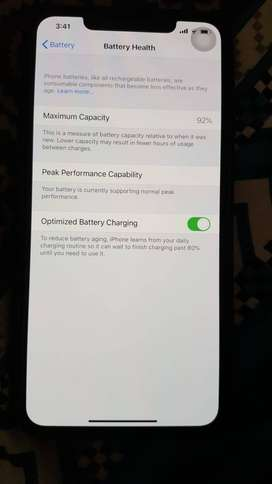 Iphone X S Max. 64 gb. Non PTA. 10/10. Battery health 92%, Facetime