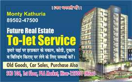 Rent for well  furnished  kothi  in sec Police  line area