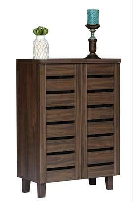 Factory Second's Sale- 2 door 4-Rack Shoe Cabinet