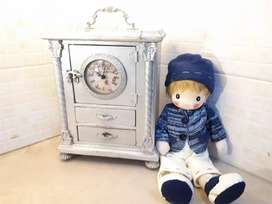 Vintage look Wooden Small Size Cupboard with clock