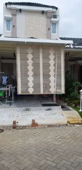 Tirai krey bambu,tirai kayu,rotan