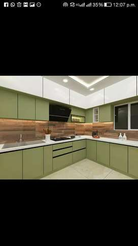 Interior, False Ceiling, modular kitchen