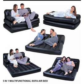 BED SOFA IN BLACK COLOUR IN PAKISTAN