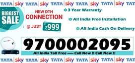 Tata Sky DTH New Tatasky Connection - All India Free