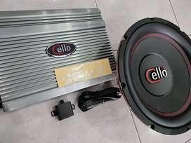 Paket Audio Manteb- Paket Lengkap Power 4Chn Subwoofer CELLO