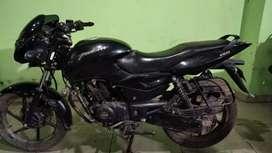 Bajaj pulsar black colour sporty look