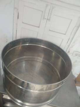 Counter and steel tub
