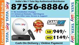 TATA SKY ! DISH TV !VIDEOCON D2H ! DTH CONNECTION ! AIRTEL TATASKY