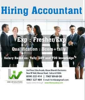 Hiring Female Accountant