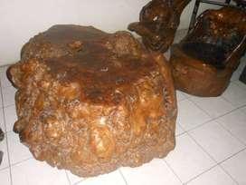 DIJUAL 1 set meja kursi antik dari akar pohon besi asal sulawesi