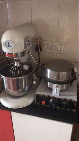 5Ltr Industrial food Mixer and Waffle Cone Baker
