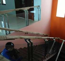 Railing tangga kaca stainless dan balkon kaca #2432