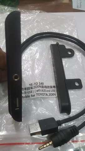 Kupingan usb dan Aux Toyota Inova/Fortuner dan Avanza