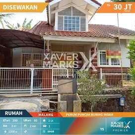 Disewakan rumah siap huni di Perum puncak Buring Indah, Malang