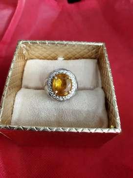 Cincin Eropa Pria Berlian Yellow Sapphire Afrika Kode 002