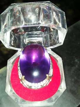 Natural cincin batu permata bungur tanjung bintang / Amethyse big size