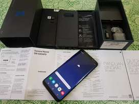 Samsung S8 64GB Midnight Black, Ex Sein, Lengkap Ori Bawaan, Mulus
