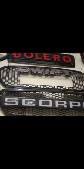 scorpio front grill led type