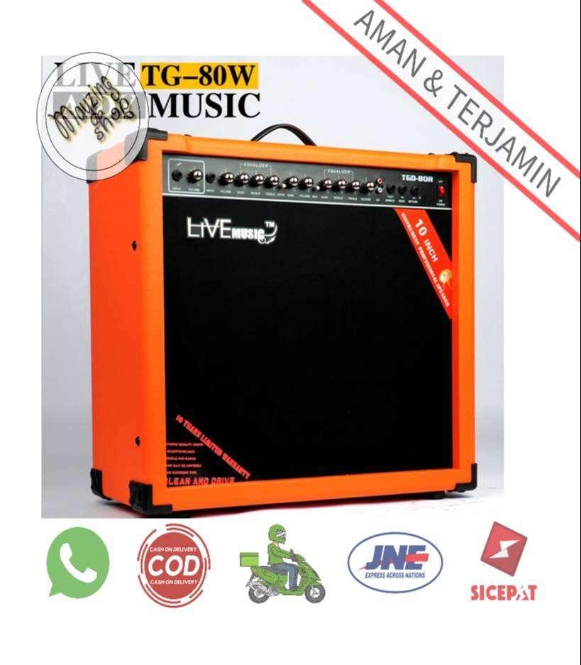 TG-80W Electric Guitar Amplifier Reverberation 2 Port 80W