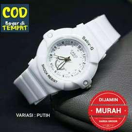 Jam tangan murah - Putih ( BAYAR DI RUMAH )