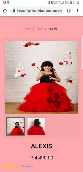 Pinkcow brand gown