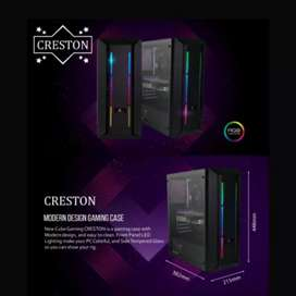 Casing PC Cube Gaming CRESTON RGB Temperred Glass