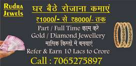 Need Male/ Female Agent 800 to 10000 Earn daily part time