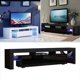 OVEVO high Gloss LED Table TV Cabinet With 16 colors RGB Multi Lights