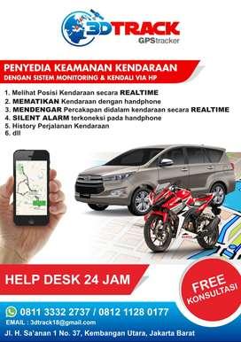 GPS TRACKER PEMANTAU KENDARAAN 24 JAM + PASANG *3DTRACK