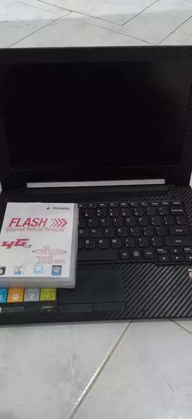 Dijual laptop lenovo + modem