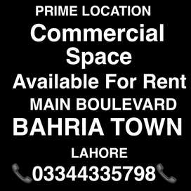 7 FLOOR COMERCIAL SPACE AVAILABLE FOR RENT BAHRIA TOWN MAIN BOULEVARD