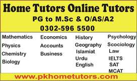Home Tutors & Online Tutors For Sector Chak Shahzad, Islamabad