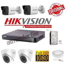 EZVIZ C4W Dome 1080P Outdoor Smart IP Camera CCTV Paket Sandisk 128GB