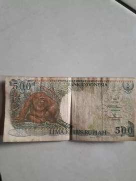 Uang kuno asli gambar orang utan