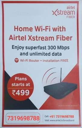 Airtel Xstream Fiber Broadband