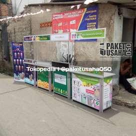 booth portable, gerobak lipat, container, cincau yogurt susu keju kopi