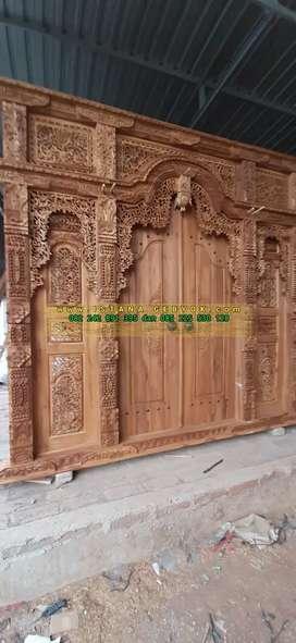 cuci gudang pintu gebyok gapuro jendela rumah masjid musholla viroh