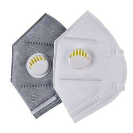 KN95 Mask with Filter (Grey & White)