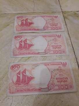 Uang Kuno Seratus Rupiah Perahu Pinisi