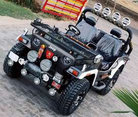 Modified convertible jeep