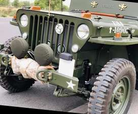 Army style willys jeep