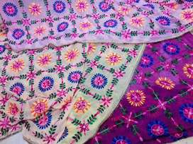 Phoolkari Chiffon Embroidered Dupatta (Free Delivery Nationwide)