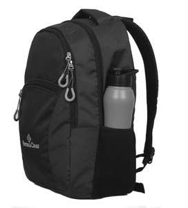 Victoria cross polyester laptop back pack (black)