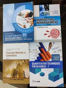 BCom Third Semester Textbooks MG University