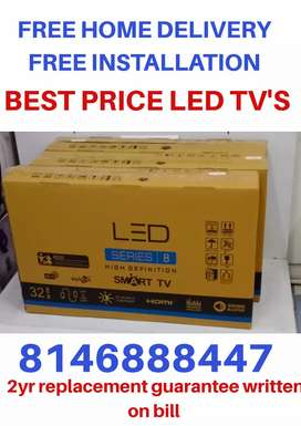 "32""ultraslim LED TV with bill +2yr replacement guarantee"