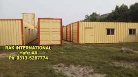 We provide office container porta cabin guard room toilet / washrooms