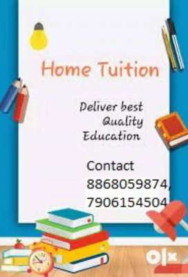Tution available for class 1 to 12th .