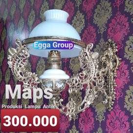 Lampu Antik Klasik Blora Dinding Gantung Stand Hias Joglo Gebyok